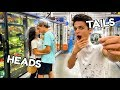 CRAZY DARES IN PUBLIC WITH FRIENDS!! (COIN FLIP CHALLENGE) | Brent Rivera
