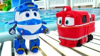 Мультфильм про игрушки и про машинки. Большой сборник: Роботы-поезда и приключения игрушек
