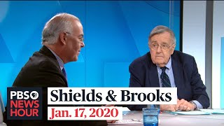 Shields and Brooks on Trump impeachment evidence, Democratic debate