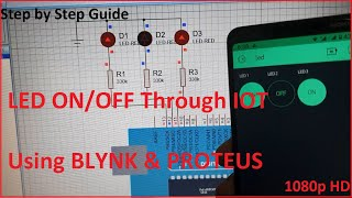 Control LED On/Off via IOT Blynk& Proteus Tutorial 2020  Arduino  Internet of Things  Blynk&Proteus