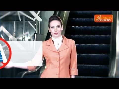 Avancemos seguros en las escaleras electricas