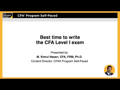 Best Time to Take the CFA Level I Exam | CFA® Review | The ...