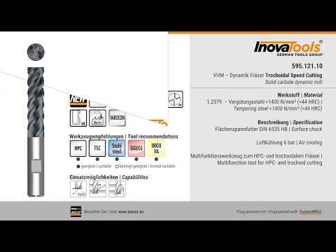 595.121.10 – VHM – Dynamik Fräser Trochoidal Speed Cutting
