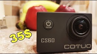 COTUO CS60 4K 30fps BEST ACTION CAMERA in WATERPROOF on 35$ WIFI Action camera  with ALIEXPRESS!