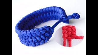 """How to Make a """"Rastaclat Style"""" Modified Trilobite Paracord Bracelet-Single Strand """"Mad Max Style"""""""