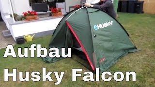"Zelt ""Husky Falcon"" Aufbau - der erste Versuch"