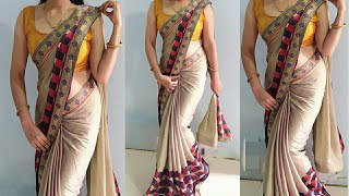 Simple से साडी Stylish look मे पहने/Simple saree to look stylish drape, easy way/simple sareedraping