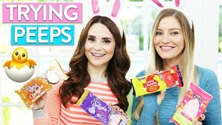 TRYING FUN PEEPS FLAVORS w/ iJustine!