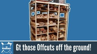 Build simple shelves to store offcuts