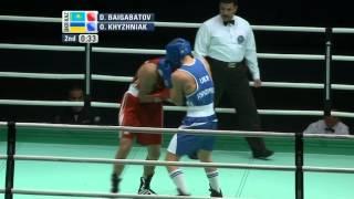Middleweight (73 kg) - Semifinal - Daulet BAIGABATOV (KAZ) - Oleksandr KHYZHNIAK (UKR)