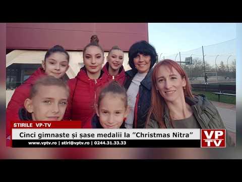 "Cinci gimnaste și șase medalii la ""Christmas Nitra"""