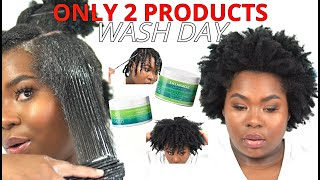 SIMPLE + EASY WASH DAY EVER 4C 4B 💦 *Easy Detangling* - NATURAL HAIR WASH ROUTINE   Bubs Bee
