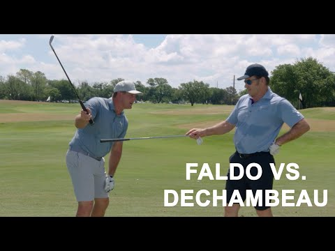 Sir Nick Faldo vs. Bryson DeChambeau: Iron Accuracy Challenge