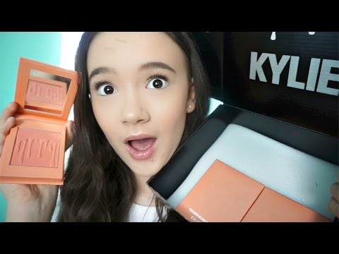 KYLIE Blush UnBoxing and Review + GIVEAWAY! FionaFrills Vlogs
