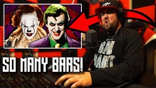 RAPPER REACTS to The Joker vs Pennywise | Epic Rap Battles Of History