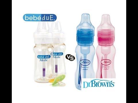 Biberones Anticólicos Dr. Browns versus Bebé Due Medic