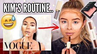 I FOLLOWED KIM KARDASHIANS MAKEUP ROUTINE + 'BEAUTY TIPS'...