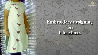 Christmas Embroidery Designing And Stitching