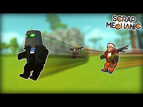 We Built and Raced INVISIBLE Cars! (Scrap Mechanic Multiplayer Monday)