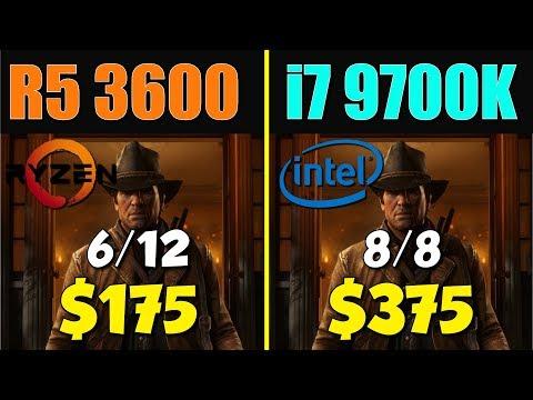 R5 3600 與 i7 9700K 差異有多大呢?