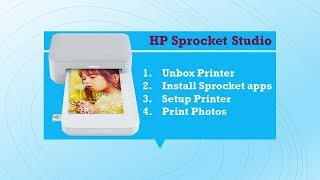 HP Sprocket Studio: Unbox, download apps, setup and print