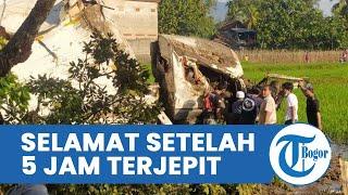 Kecelakaan Maut di Jalur Gekbrong Cianjur, Satu Korban Selamat setelah 5 Jam Terjepit, Satu Tewas