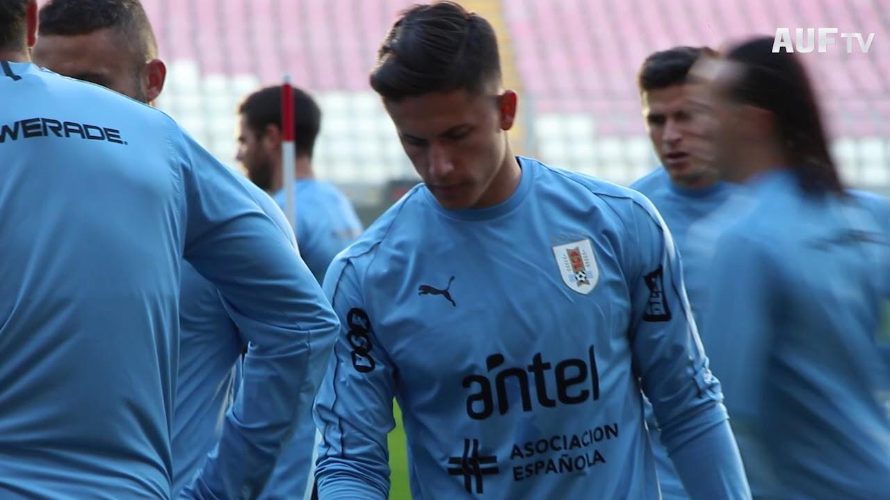 Entrenamiento en el estadio Nacional de Lima