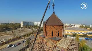 Малахия Оганян: «Мы установили армянский крест над главным куполом строящегося храма»