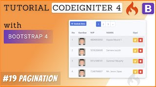 19  Pagination - Tutorial CodeIgniter 4 & Bootstrap 4