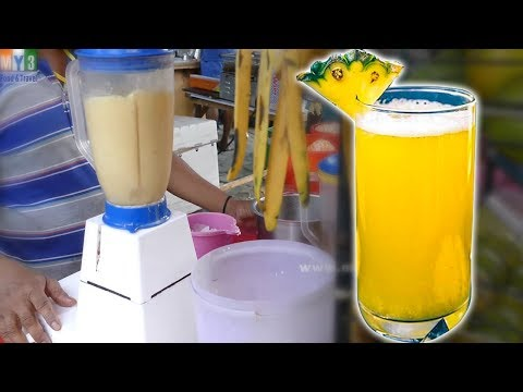 Video PINEAPPLE JUICE MAKING | HEALTHY STREET DRINKS IN INDIA