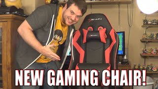 NEW GAMING CHAIR! (Sponsored by Ewin)