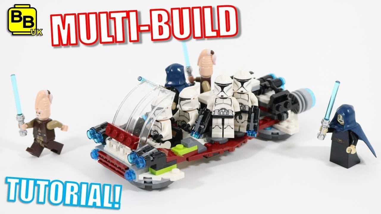REPUBLIC TRANSPORTER! LEGO STAR WARS 75206 X2 MULTI-BUILD REPUBLIC TRANSPORTER!