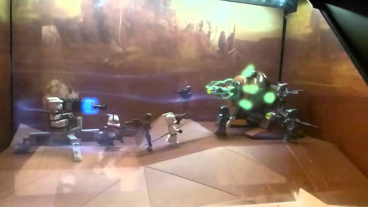 Holographic Star Wars LEGO Toy Display Is Better Than All Three Prequels Combined