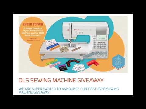 Sewing Machine Giveaway - by The Dutch Label Shop