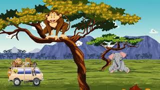 Africa, safari, savannah, wild animals animation for kids