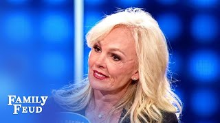 Tammy Bradshaw's answer STUNS Steve Harvey! But wait... | Celebrity Family Feud