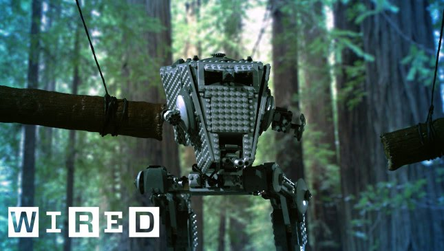 If A LEGO AT-ST Gets Obliterated By Logs In A Forest, Does It Make A Sound?