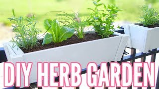 DIY HERB GARDEN | How To Plant An Herb Garden - Great For Apartments!! Easy Beginner Gardening!!