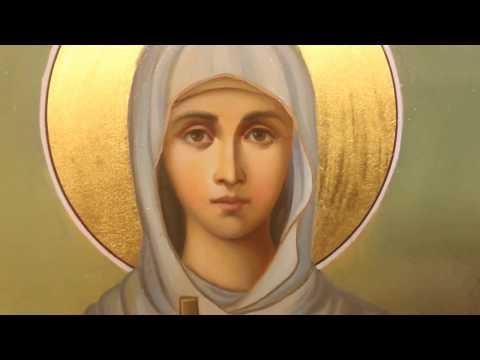 Рукописная икона св мученица Дария