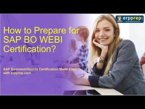 SAP BO WEBI (C_BOWI_42) Certification Latest Questions Answers ...