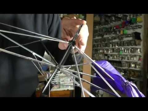 Ремонт зонтов часть 9 зонт трость разборка сборка ремонт