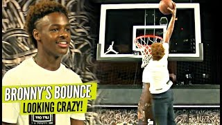 Bronny James Jr DUNKING EASSYYY AND Showing Off JELLY Package!!