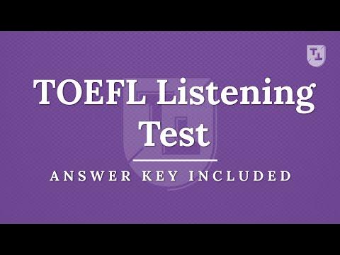 TOEFL Listening Practice Test, New Version