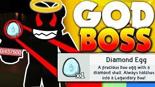 *SECRET* DIAMOND EGG GOD BOSS!! (FREE ITEMS) - Roblox Bee Swarm Simulator (Update)