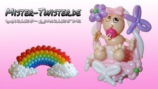 Balloon Baby, Baby  Shower, Decoration, Ballon Baby, Babypinkeln, Dekoration