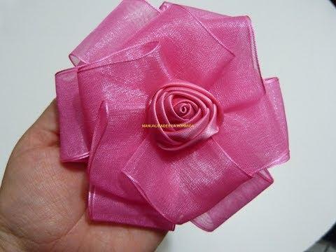 Moños en cinta de organza, Tie in organza ribbon