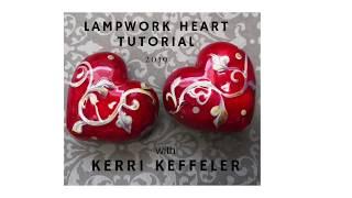 Lampworking Heart Glass Bead Demo Tutorial By Kerri (Fuhr) Keffeler - Lampwork For Beginners!