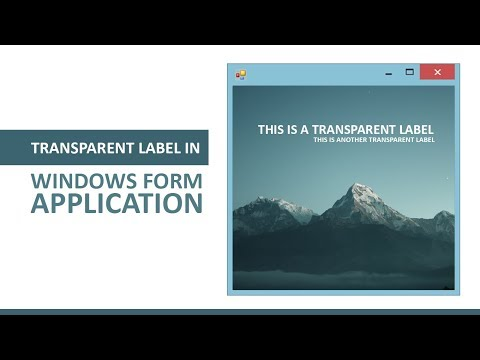 How to get Transparent Label in Visual Studio Windows Form Application