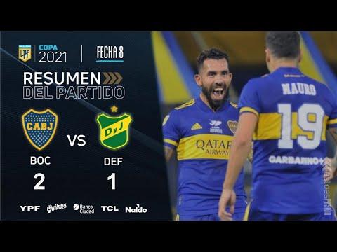 Boca 2 - Defensa y Justicia 1: goles y polémicas del partido en La Bombonera