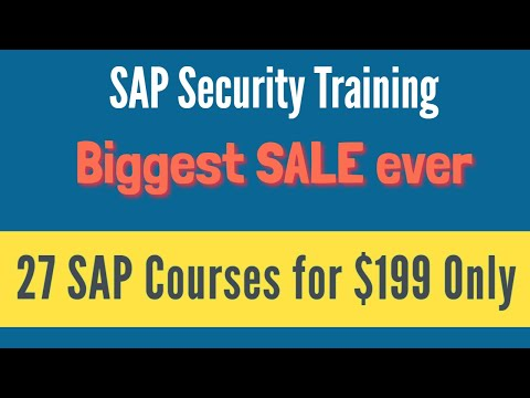 SAP Security Training - Complete SAP Security Video Based ...